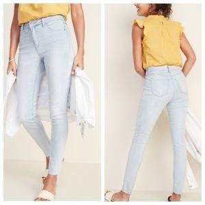 ❤️Mid-rise raw edge rockstar jeans Old Navy size 2